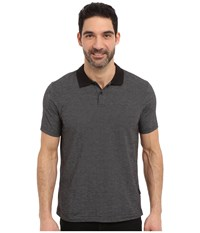 Perry Ellis Two Button Jacquard Polo Black Men's Clothing