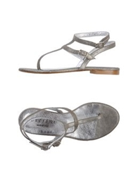 Orciani Thong Sandals Platinum