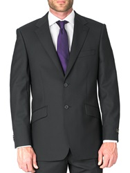 Simon Carter Formal Single Breasted Wool Jacket Black
