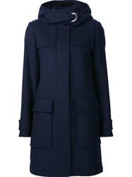 Proenza Schouler Hooded Coat Blue