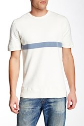 M.Nii Jonsey Short Sleeve Pullover Sweater White