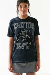 Urban Outfitters Led Zeppelin Dye Tee Blue Multi