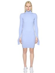 Jacquemus Wool Rib Knit Turtleneck Sweater Dress