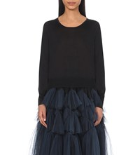 Dries Van Noten Jacinta Metallic Knit Jumper Black