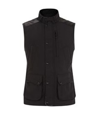 Ralph Lauren Black Label Leather Trim Gilet Black
