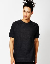 Ourcaste Gunther Short Sleeve Raglan Sweat Black