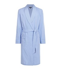 Harrods Of London Gingham Check Robe Male Blue