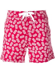 Woolrich Pineapple Print Swim Shorts Red