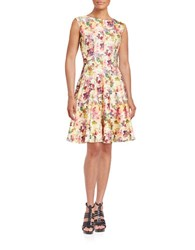 Gabby Skye Floral Fit And Flare Dress Yellow Multi