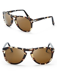 Persol Vintage Celebration Folding Keyhole Aviator Sunglasses Bloomingdale's Exclusive Tobacco Virginia