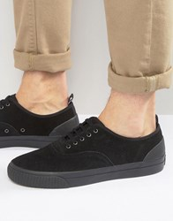 Fred Perry Barson Suede Plimsolls Black