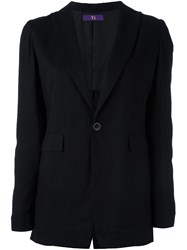 Y's One Button Blazer Black