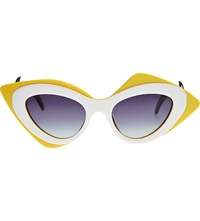 Prabal Gurung Mask Sunglasses Yellow And White