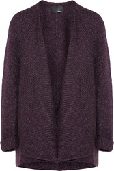 Line Haven Knitted Cardigan Purple