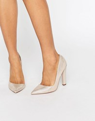Paper Dolls Nissa Nude Stingray D'orsay Court Shoes Nude Beige