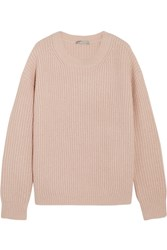 Vince Ribbed Wool Blend Sweater Blush