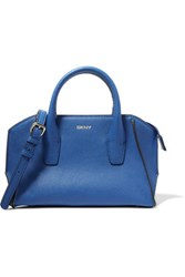 Dkny Mini Textured Leather Tote Royal Blue