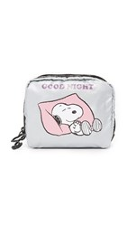 Le Sport Sac Peanuts X Lesportsac Square Cosmetic Case Snoopy Goodnight