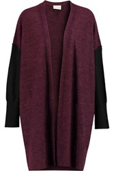 Dkny Oversized Knitted Cardigan Red