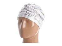 Venius Classic Turban White Sequin Caps