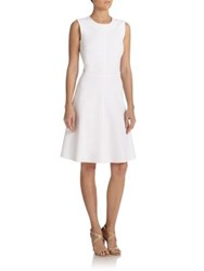 Josie Natori Paneled A Line Dress Off White