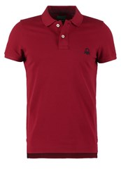 United Colors Of Benetton Muscle Fit Polo Shirt Bordeaux