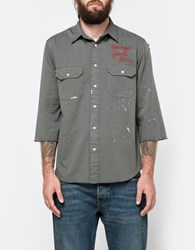 Levi's Tab Twill Shirt Custom Green Fade