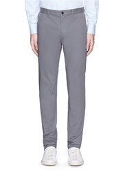 Theory 'Zaine' Stretch Cotton Blend Pants Grey