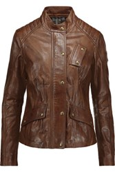 Belstaff Redgrave Leather Jacket Dark Brown