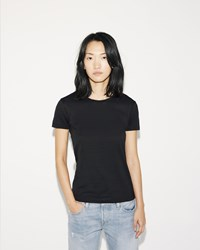 Sunspel Short Sleeve Crew Neck Black