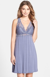 Fleurt 'Whispers Of Love' Lace Bodice Chemise Blue Granite
