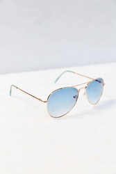 Urban Outfitters Two Tone Aviator Sunglasses Glacier Blue