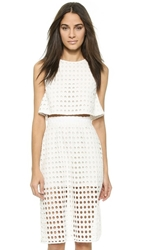 Zinke Drew Crop Top White