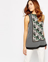 Warehouse Wallpaper Print Tunic Top Multi