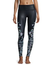 Alo Yoga Airbrush Butterfly Print Sport Leggings Butterfly Gloss