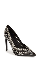 Jeffrey Campbell 'Luz Stud' Pump Women Black Patent Silver