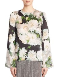 Adam By Adam Lippes White Dahlia Long Sleeve Blouse