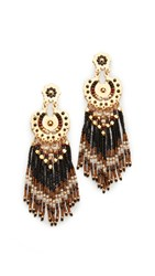 Gas Bijoux Fringe Earrings Brown
