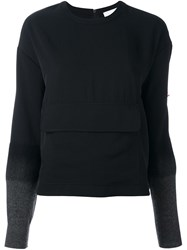 Dkny Needle Punch Sleeve Top Black
