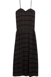 Studio Nicholson Bradford Striped Wool Blend Dress Dark Gray