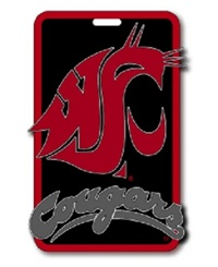 Aminco Washington State Cougars Soft Bag Tag Team Color