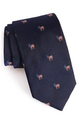 Vineyard Vines Men's 'Donkeys' Print Silk Tie