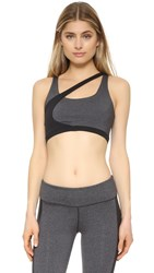 Solow Concave Sports Bra Charcoal Black