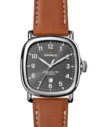 Shinola 41Mm Guardian Men's Watch Tan Beaumont Gray