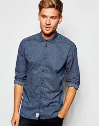 Pepe Jeans Dominic All Over Print Navy Shirt Blue