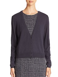 Peserico Wool And Cashmere Cardigan Navy