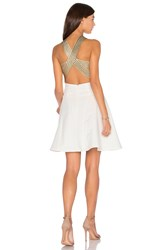 Lumier Between The Lines Fit And Flare Dress White