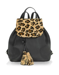 Fontanelli Calfhair And Leather Backpack Black