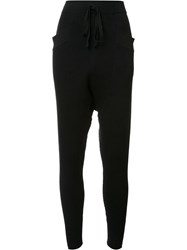 Baja East Ribbed Harem Pants Black