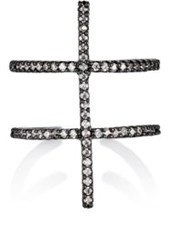 Fallon 'Pave Ladder' Ring Colorless